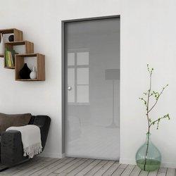 Drzwi Szklane Przesuwne 105 GEO SATYNA KASETA