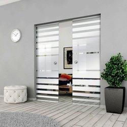 Drzwi Szklane Przesuwne 150(2X75) GEO3 KASETA