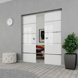Drzwi Szklane Przesuwne 190(2X95) GEO11 KASETA