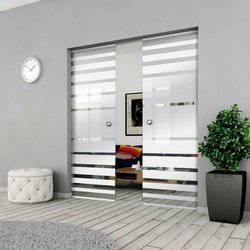 Drzwi Szklane Przesuwne 200(2X100) GEO3 KASETA