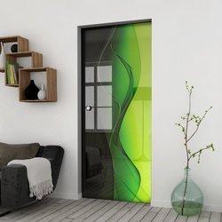Drzwi Szklane Przesuwne 65 GR-H016  KASETA