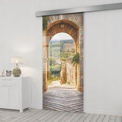 Drzwi Szklane Przesuwne 65 GR-H02 SILVER