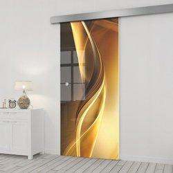 Drzwi Szklane Przesuwne 65 GR-H029 SILVER