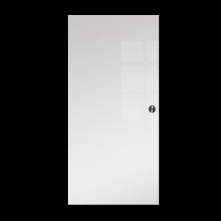 Drzwi Szklane Przesuwne 650X2095 8MM FLOAT ESG/VSG BIAŁE + KASETA