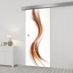 Drzwi Szklane Przesuwne 75 GR-H012 SILVER