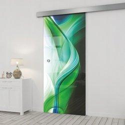 Drzwi Szklane Przesuwne 75 GR-H08 SILVER