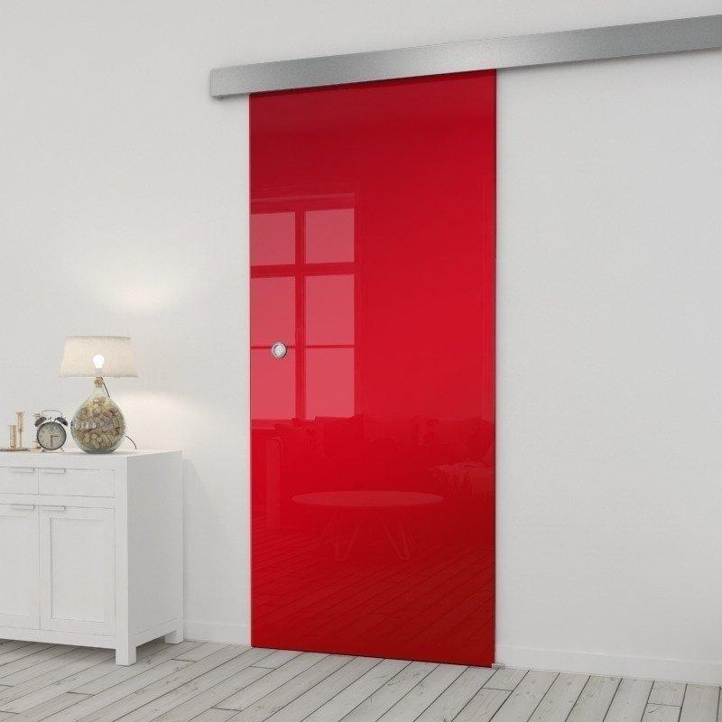 Drzwi Szklane Przesuwne 85 ESG/VSG CZERWONE SILVER
