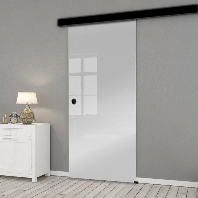 Drzwi Szklane Przesuwne 85 ESG/VSG SATYNA NERO