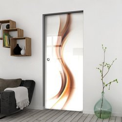 Drzwi Szklane Przesuwne 85 GR-H012 KASETA