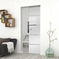 Drzwi Szklane Przesuwne 95 GEO11 KASETA