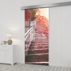 Drzwi Szklane Przesuwne 95 GR-H010 SILVER