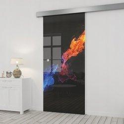Drzwi Szklane Przesuwne 95 GR-H31 SILVER