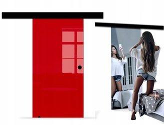 Drzwi Szklane Przesuwne BLACK DESIGN 1000X2095 8MM