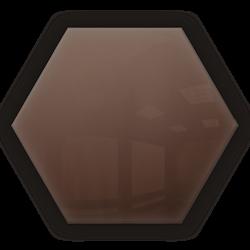 Kafelek lustrzany 183x160 Heksagon 4mm Szlif Poler Brąz