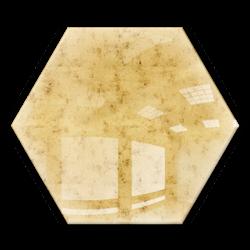 Kafelek lustrzany 183x160 Heksagon 4mm Szlif Poler Lustro Antyczne AG1 GOLD