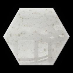 Kafelek lustrzany 183x160 hexagon 4mm Szlif Poler Lustro Antyczne AG1 SILVER