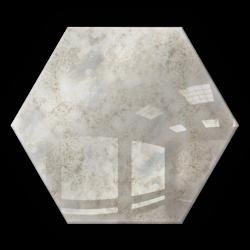 Kafelek lustrzany 25X21,6 Heksagon 4mm Szlif Poler Lustro Antyczne KG1 SILVER