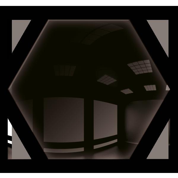 Kafelki lustrzane 183x160 Heksagon 3mm Szlif Poler Czarne 1szt.