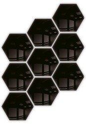 Kafelki lustrzane 183x160 Heksagon 3mm Szlif Poler Czarne 9szt.