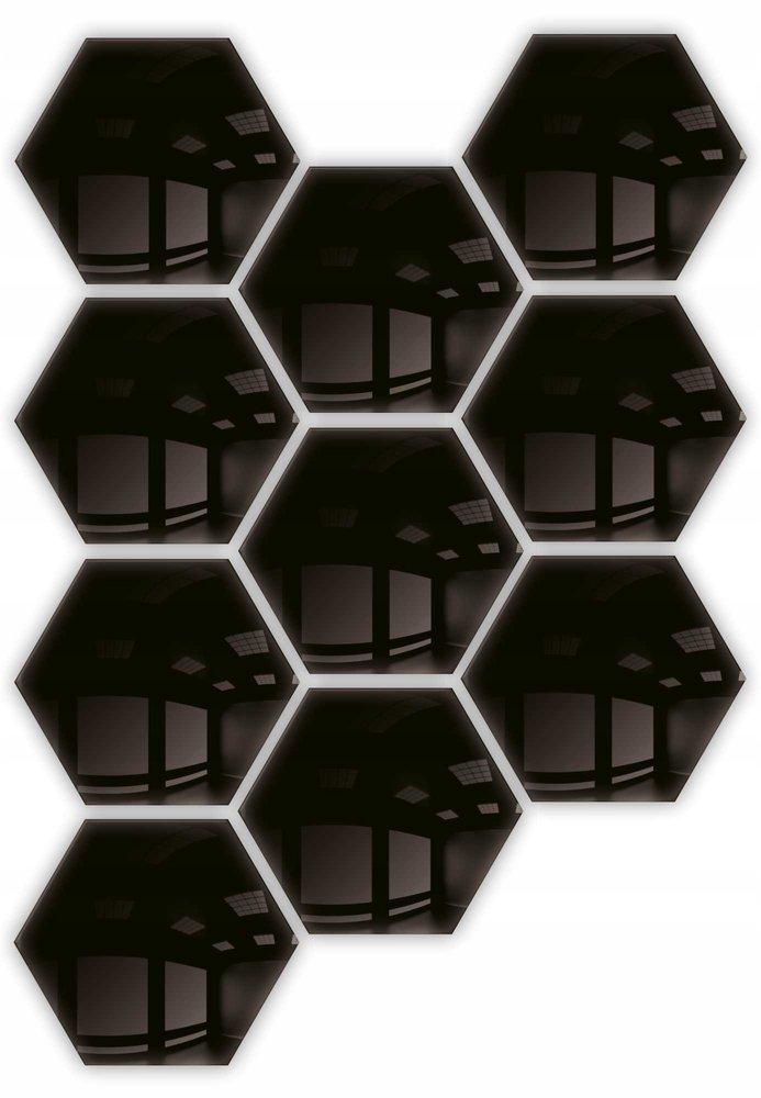 Lustro dekoracyjne hexagon samoprzylepne 10szt 183x160mm