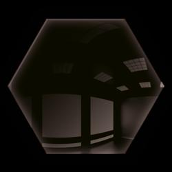 Płytka Lustrzana - 183x160 hexagon 4mm Szlif Poler Czarne