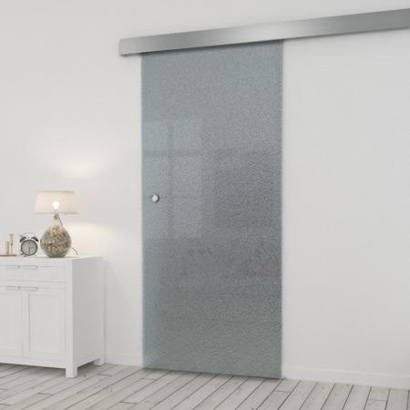 Drzwi Szklane Przesuwne 1050X2095 8MM ESG MILENIUM + SYSTEM PRZESUWNY