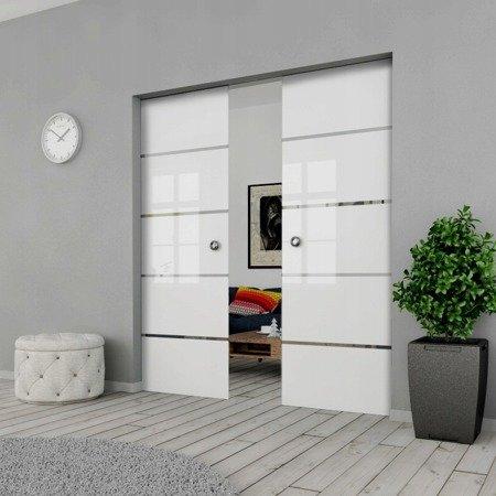 Drzwi Szklane Przesuwne 130(2X65) GEO11 Kaseta