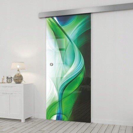 Drzwi Szklane Przesuwne 65 GR-H08 SILVER