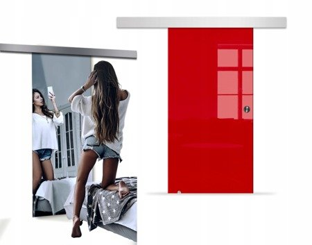 Drzwi Szklane Przesuwne 650X2095 8MM VSG LUSTRO/CZ