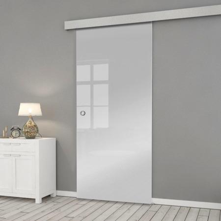 Drzwi Szklane Przesuwne 75 ESG/VSG SATYNA SILVER