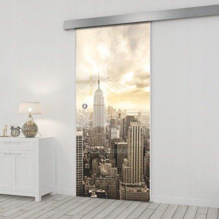 Drzwi Szklane Przesuwne 75 GR-H09 SILVER