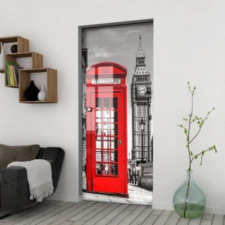 Drzwi Szklane Przesuwne 850X2095 8MM ESG/VSG GRAFIKA 2STR GR-H01 + KASETA