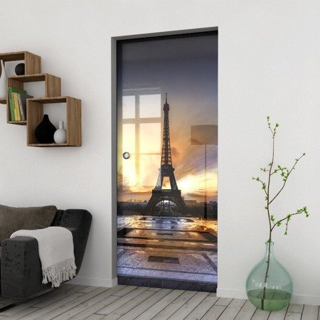 Drzwi Szklane Przesuwne 950X2095 8MM ESG/VSG GRAFIKA 2STR GR-H023 + KASETA
