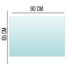 Podstawa Szklana Pod Piec Kominek Szkło 6mm 65x90